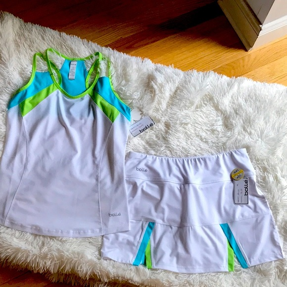 Bolle' Tennis Outfit Top and Skirt!! NWT